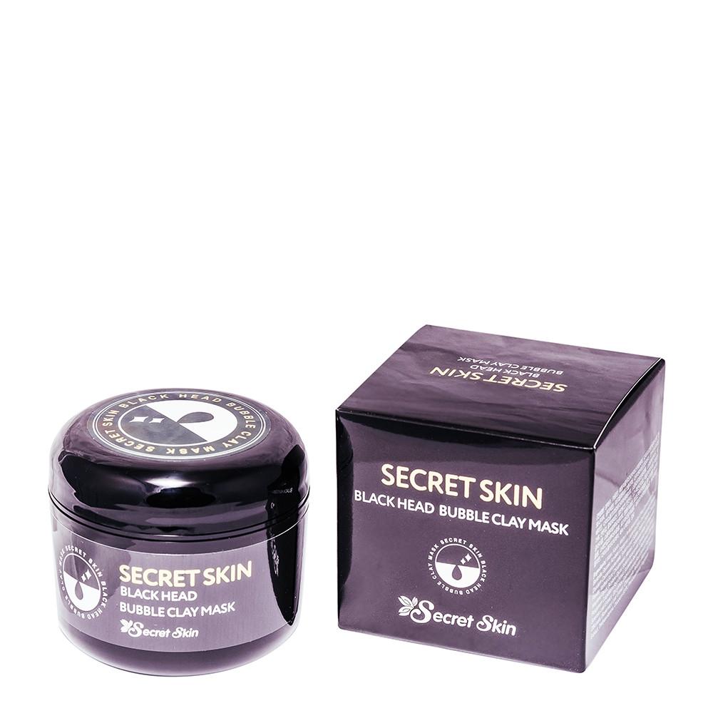 Пузырьковая маска для лица с черной глиной Secret Skin Black Head Bubble Clay Mask 100g (Потёртая упаковка)