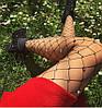 Колготки в сетку с блестками, стразами, камнями, блестящие , колготы , чулки, фото 4