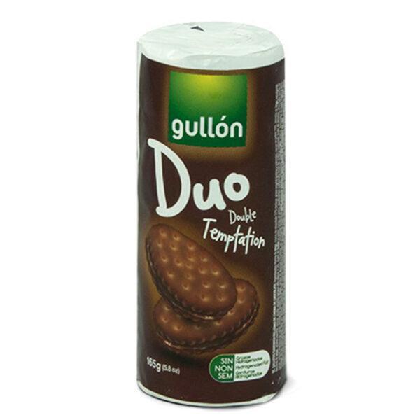 Печиво GULLON Duo сендвіч темне з шоколадним кремом, 165 г