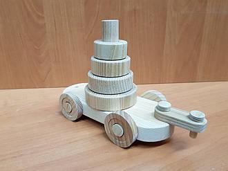 Эко-игрушка Вагончик деревянный