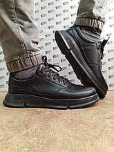 Комфортные осенние кожаные туфли на шнурках Detta
