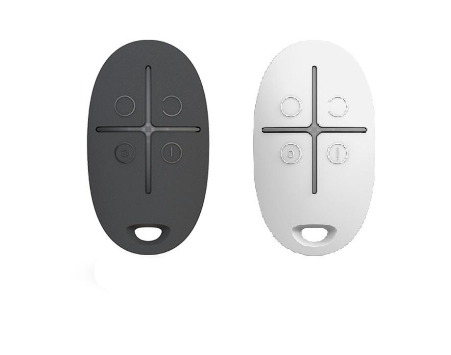 Брелок керування тривожною кнопкою Ajax SpaceControl black/white