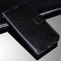 Чехол Fiji Leather для Blackview A80s книжка с визитницей черный