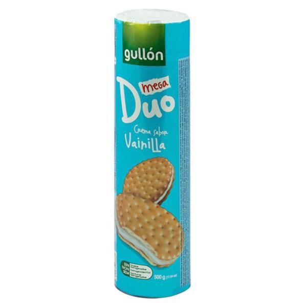 Печиво GULLON Duo Mega сендвіч світле з ванільним кремом, 500 г