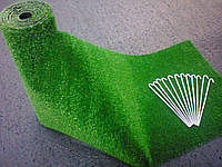 Трава для благоустрою могил декоративна (комплект:трава+скоби), фото 1