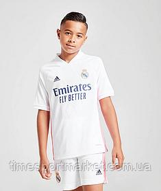 Дитяча Футбольна форма Реал Мадрид домашня 2020-2021 (Оригінальна Репліка) Біла