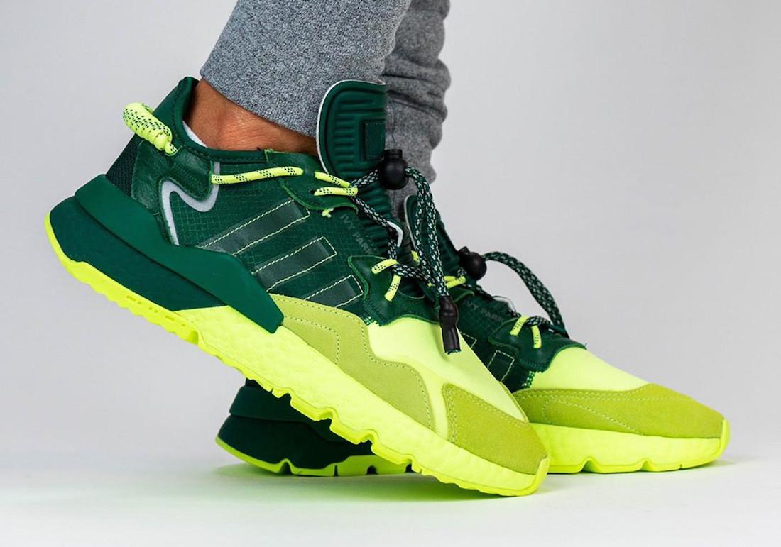 """Кроссовки Adidas Nite Jogger Green """"Зеленые/Салатневые"""""""