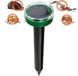 Отпугиватель грызунов и насекомых аккумуляторный на солнечной батареи ультразвуковой и электромагнитный Garden, фото 4
