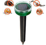 Відлякувач гризунів та комах акумуляторний на сонячній батареї ультразвукової та електромагнітний Garden, фото 4
