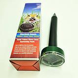 Отпугиватель грызунов и насекомых аккумуляторный на солнечной батареи ультразвуковой и электромагнитный Garden, фото 9