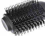 Мультистайлер фен-щетка для укладки волос браш VGR 1000Вт + складная ручка Черный, фото 5