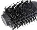 Мультистайлер фен-щітка для укладки волосся браш VGR 1000Вт + ручка, Чорний, фото 5