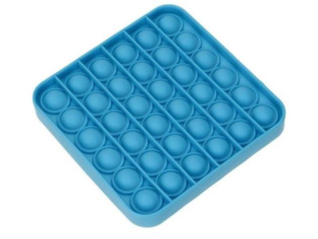 Антистресс сенсорная игрушка Pop It Квадрат Голубой