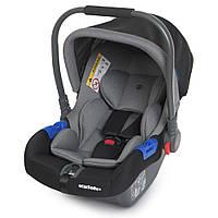 Детское автокресло автолюлька El Camino ME 1043 Newborn+ 0+ Gray Серый