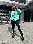 Велюровий костюм жіночий спортивний на манжетах, фото 4