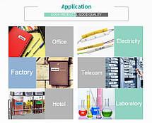 Лента для принтера этикеток Epson LabelWorks LK4SBE Matte Blk/MattSiv 12/8 (C53S654017), фото 2