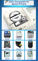 Лента для принтера этикеток Epson LabelWorks LK4SBE Matte Blk/MattSiv 12/8 (C53S654017), фото 3