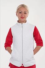 Стеганная медицинская женская жилетка с воротником размер 42-60