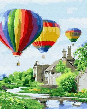 Картины по номерам 40х50 см Brushme Запуск воздушных шаров (GX 23651)
