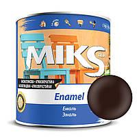 Эмаль коричневая ПФ-115 Миks color 0,9 кг.