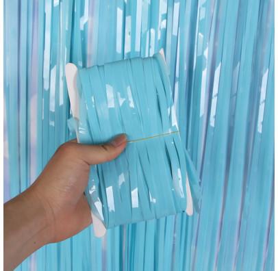 Фото-фон - шторка из фольги Blue (1х2 метра)