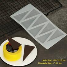 """Молд для шоколада """"Треугольники"""" - размер молда 22*11,5см, пищевой силикон"""