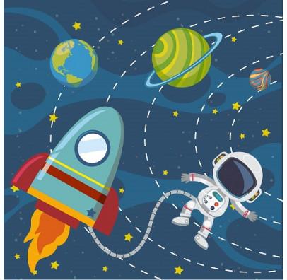 Салфетка Космос 33см 10 шт