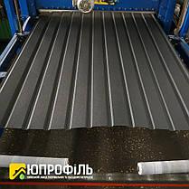 Профнастил для забора ПС 10 Чёрный матовый RAL 9005 0.40 мм., фото 3