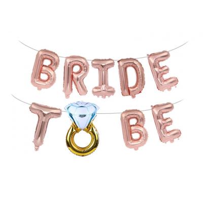 Шары Bride to be в розовом золоте