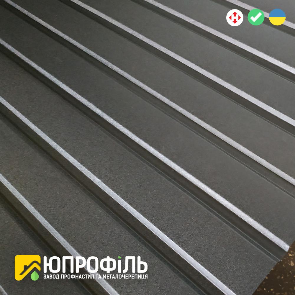 Профнастил для забору ПС 10 матовий Чорний RAL 9005 0.40 мм