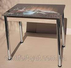 Стіл кухонний нерозкладний Даллас 90*60см зі склом 06-156