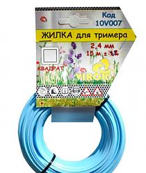 Леска для триммера Квадрат д 2.7 мм х 15 м Virok