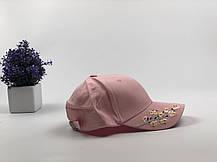 Кепка Бейсболка Жіноча City-A з Квіткою Сакурою Рожева, фото 2