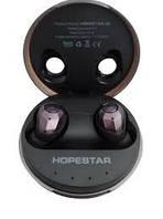 Беспроводные наушники мини вкладыши TWS Hopestar E6 Bluetooth Хопстар блютуз гарнитура для телефона черные