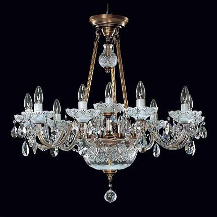 Хрустальный светильник Еlite Bohemia L689/10+2/02Pt, фото 2