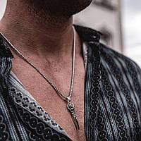 Мужская металлическая серебряная подвеска Копье, цепочка на шею, кулон из нержавеющей стали (316L)