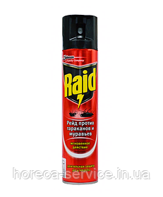Raid аэрозоль от тараканов и муравьев 300 мл.