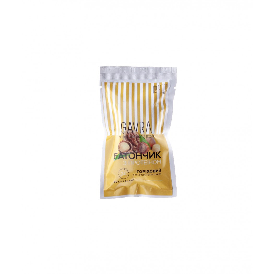 Батончик протеиновый ореховый Gavra, 50г