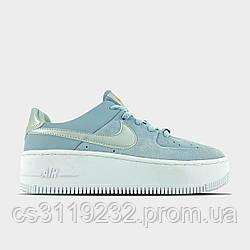 Жіночі кросівки Nike Air Force 1 Sage Hydrogen Blue (блакитний)