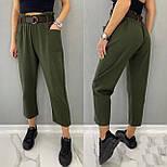 Стильні штани жіночі льняні, фото 2