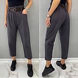 Стильні штани жіночі льняні, фото 4