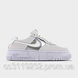 Жіночі кросівки Nike Air Force Pixel Gold Chain (білі)