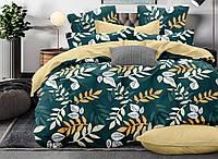 Двуспальный комплект постельного белья Листья Папороти 178х215 см из полиэстера