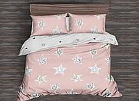 Двуспальный комплект постельного белья Звезды и линии 178х215 см из полиэстера