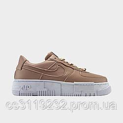Жіночі кросівки Nike Air Force 1 Pixel Particle Coral Pink (бежево-білі)