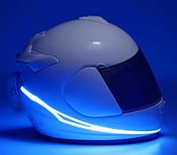 AllExtreme EXHNL2G EL шолома з 3 режимами, блимаюча підсвітка мото , наклейка на шолом, фото 1