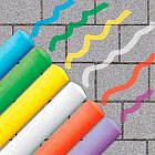 Набір крейд для асфальту- Яскрава палітра SES Creative 02206, фото 3