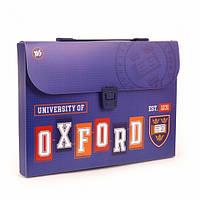 Тека-портфель А4 пластикова Yes Oxford blue