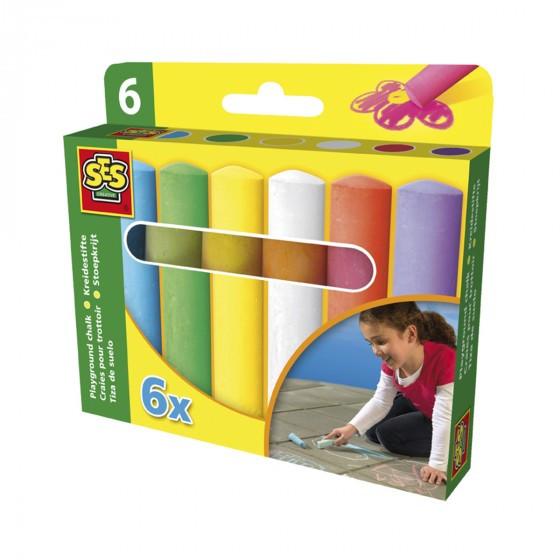 Набор Мелков Для Асфальта - Веселая Палитра (6 Цветов) SES Creative 02206S