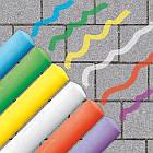 Набор Мелков Для Асфальта - Веселая Палитра (6 Цветов) SES Creative 02206S, фото 3
